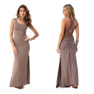 Taupe Maxi Dress by Sky