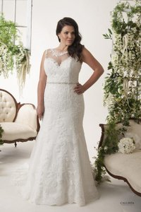 Callista Ivory Lace Dallas Formal Wedding Dress Size 24 (Plus 2x)
