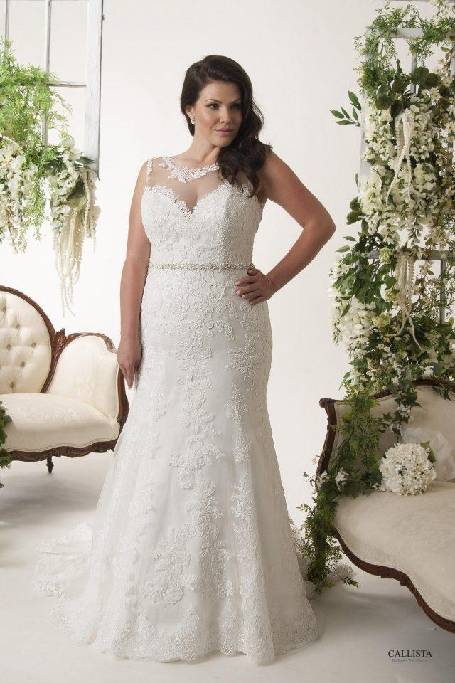 Callista Ivory Lace Dallas Formal Wedding Dress Size 24 Plus 2x
