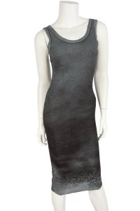 Ann Demeulemeester short dress Gray & Black on Tradesy