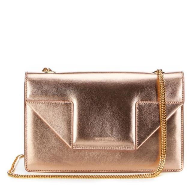 Item - Betty Metallic Small Rose Gold Leather Shoulder Bag