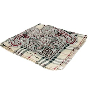 Burberry Burberry Limited Edition Paisley Nova Plaid Check Pure Silk Scarve