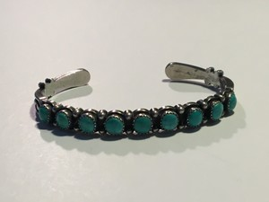 Other Vintage Sterling Silver Turquoise Navajo Cuff Bracelet