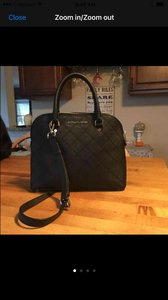Michael Kors Satchel in Black and silver