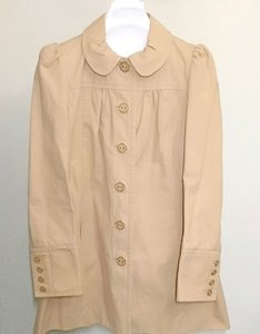 Juicy Couture Peter Pan Collar Ruffle Trench Coat