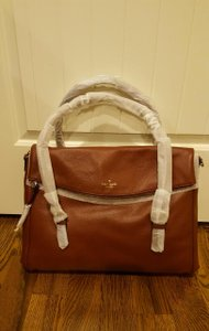 Kate Spade Leather Gold Hardware Chic Darkroast Travel Bag