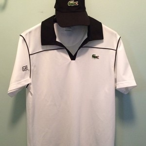 Men's Medium Lacoste Sport Shirt and Hat Set Short sleeve shirt