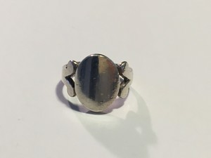 Vintage Sterling Silver Oval Signet Ring