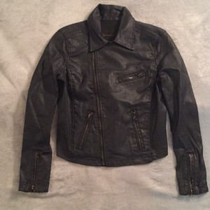AG Adriano Goldschmied Leather Leather Jacket