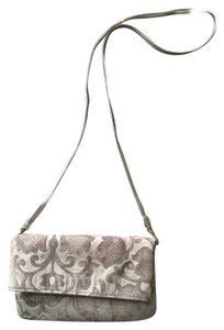Target Limited Edition Brocade Metallic silver & cream Clutch