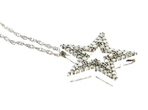 Other 14k gold & .22 ct diamond star pendant with chain
