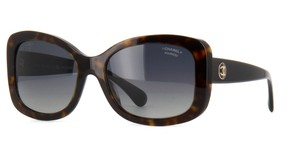 Chanel 5322 CC Rectangular Square Signature Oversized Classic Polarized Blue