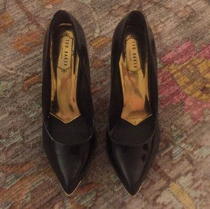 Ted Baker Black and Gold Pumps