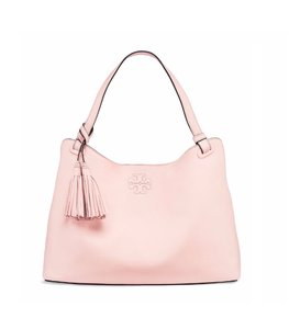 Tory Burch Leather Tote in Sweet Melon