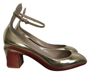 Valentino Leather Gold Pumps