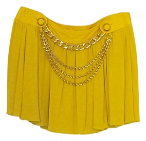 Dolce&Gabbana D&g Dolce & Gabbana Gold Mini Skirt Yellow