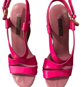 Louis Vuitton Pink Platforms