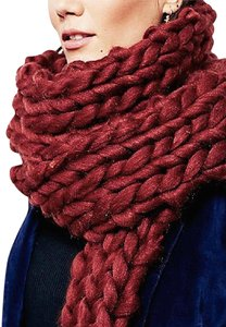 Free People Free People Chunky Braided Scarf One Size in Rust ~ Clearance~