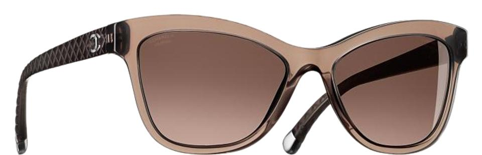 134b7f40c1 Chanel Brown 5330 Cc Cat Eye Quilting Butterfly Quilted Oversized Classic  Polarized Sunglasses