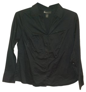 Lane Bryant Button Down Shirt Black