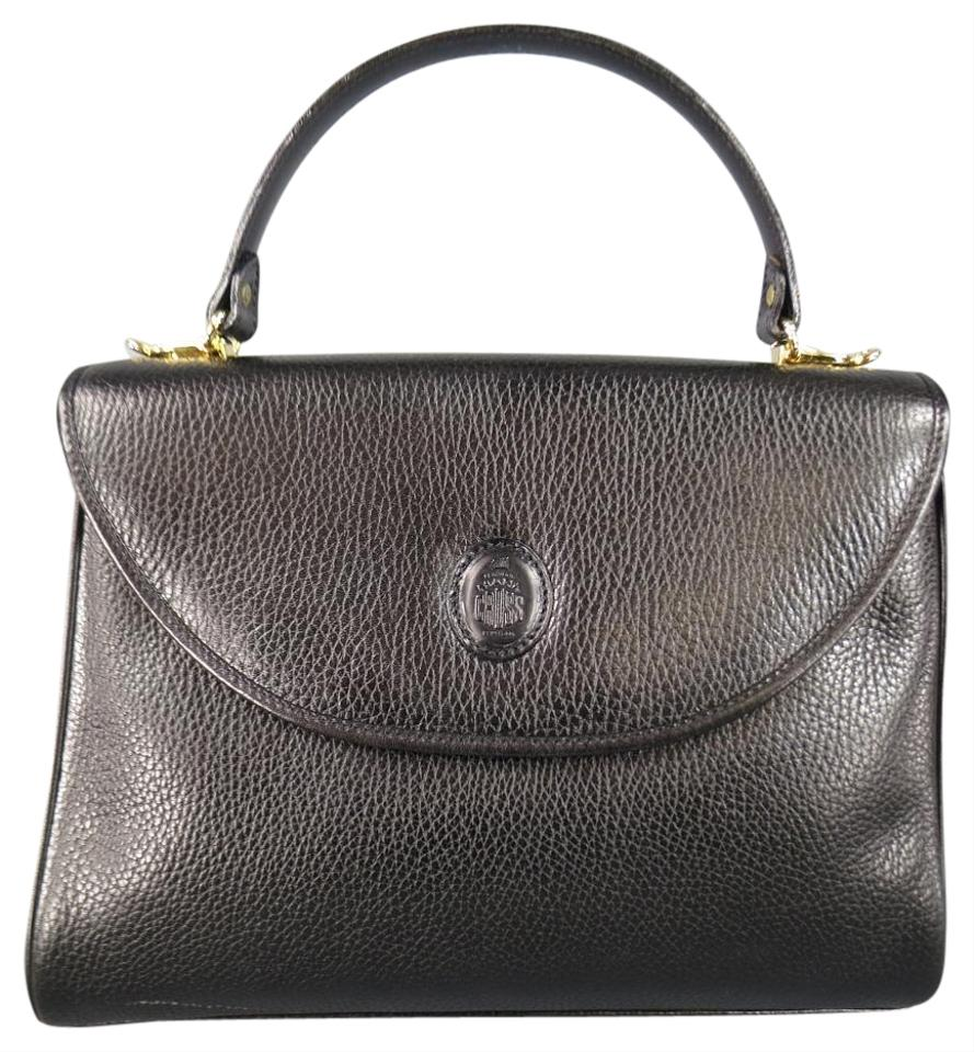 6c0a9d49cbc3 Mark Cross Vintage Leather Murphy Pebbled Embossed Satchel in Black Image 0  ...