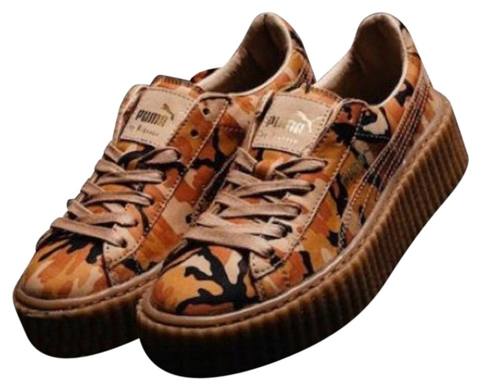 63da3cc4af4633 Puma Orange Camo Oat Fenty Creepers Sneakers Size US 8.5 Regular (M ...