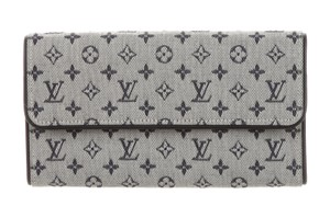 Louis Vuitton Blue, grey Idylle canvas Louis Vuitton Mini Lin International wallet