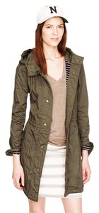 J.Crew Military Fatigue Hooded Parka Military Green Jacket