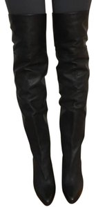Jimmy choo boot leather over the knee size 7 Black Boots