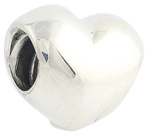PANDORA Pandora Big Smooth Heart Bead Charm - Sterling Silver 925 Ale 790137 Love