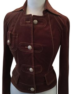Cache Brown Leather Jacket