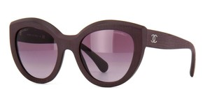 Chanel 5331 CC Butterfly Signature Oversized Classic Burgundy Cat Eye Round