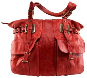 Elliott Lucca Vintage Leather Tote in Red