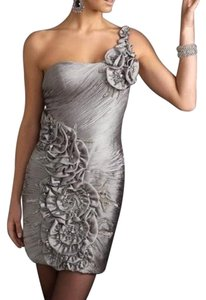 Terani Couture One Shoulder Beaded Dress