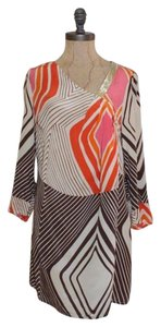 Plenty by Tracy Reese short dress MULTI COLORED Shift Silk Print Anthropologie on Tradesy