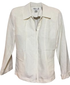 Jones New York Linen Silk Jacket Off White Blazer