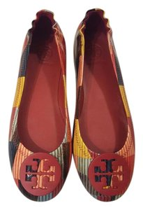 Tory Burch Flat Ballet Leather multi red Flats