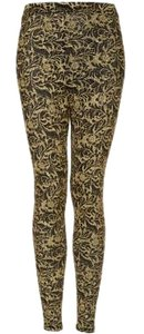 Topshop Gold Glitter Leggings