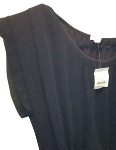J.Crew Pleated Tunic Sheer Cinched New Tags Top Black