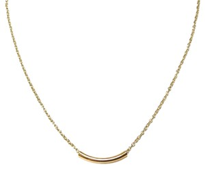 Elliot Francis New Gold tube necklace