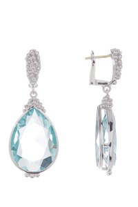 Judith Ripka JUDITH RIPKA Sterling Silver Bermuda Paraiba Spinel Earrings