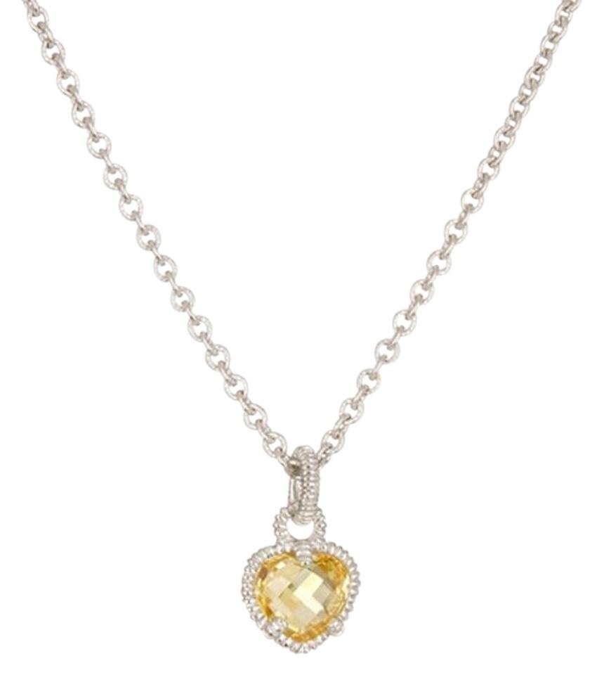 Judith ripka yellow faceted canary heart pendant necklace tradesy judith ripka faceted canary heart pendant aloadofball Images