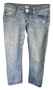 Hydraulic Capri/Cropped Denim-Medium Wash
