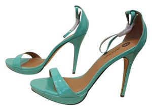Michael Antonio Heeled Sandal Patent Ankle Strap High Heel Mint Pumps