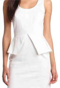 Vince Camuto Peplum Sheath Sleeveless Wedding Rehearsal Dress