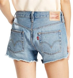 Levi's Cut Off Distressed Denim Shorts-Light Wash