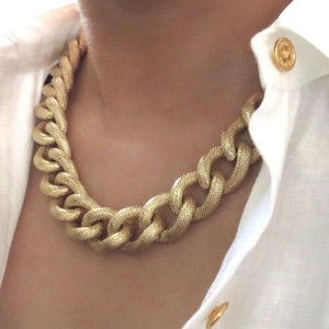 Elliot Francis textured chunky chain necklace