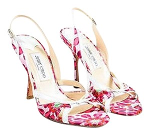 Jimmy Choo Green Pink Red Multi-Color Sandals