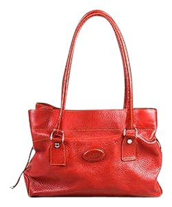 Tod's Tods Grain Leather Satchel in Red