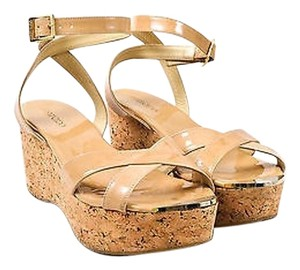 Jimmy Choo Patent Nude Sandals